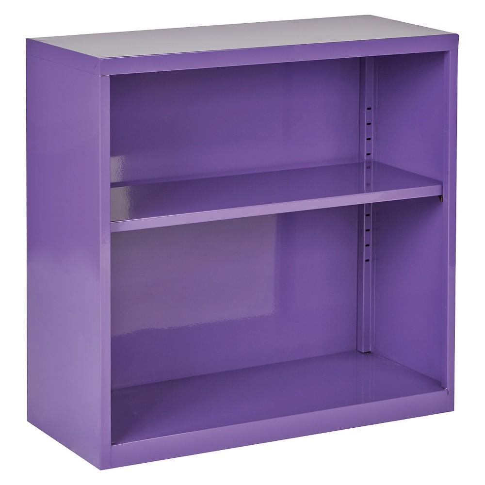 "Image of ""28"""" Metal Bookcase Purple - OSP Home Furnishings"""