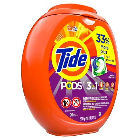 Tide Pods Laundry Detergent Pacs - Spring Meadow - 96ct - image 1 of 3