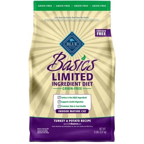 Blue Buffalo Basics Limited Ingredient Diet Indoor with Turkey & Potato Mature Premium Dry Cat Food - image 1 of 4