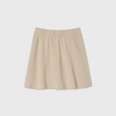 Girls' Pull-On Uniform Knit Skater Skorts - Cat & Jack™ Beige