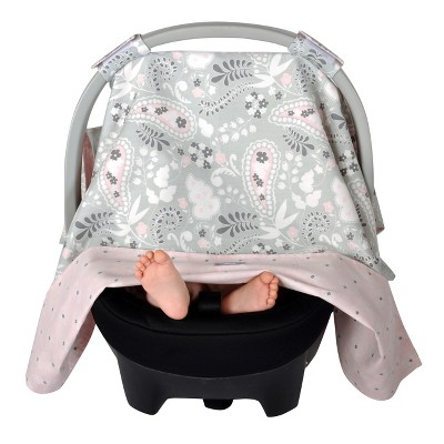 Balboa Baby Paisley Car Seat Canopy - Gray