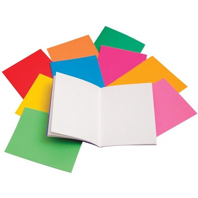 Hygloss Rainbow Bright Blank Book, 4-1/4 x 5-1/2 Inches, 10 Books with 24 Sheets Each