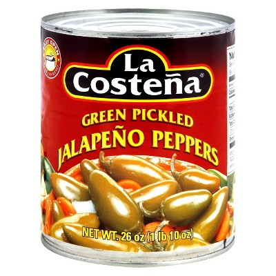 La Costena Green Pickled Jalapeno Peppers - 26oz
