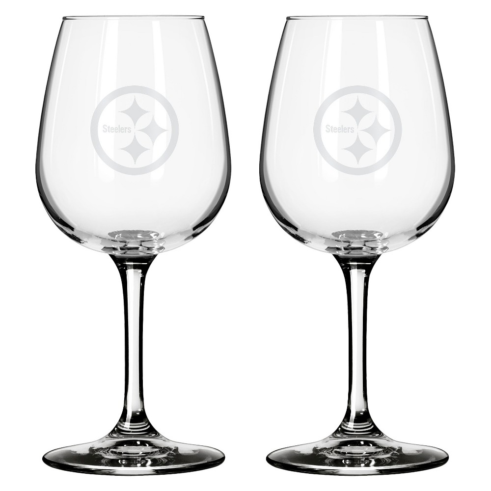 Boelter Brands Pittsburgh Steelers 2 Pack Wine Glass 12 oz