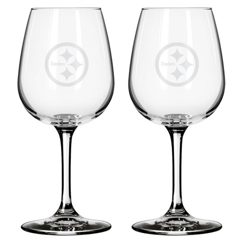 Boelter Brands Pittsburgh Steelers 2 Pack Wine Glass 12 oz - image 1 of 1