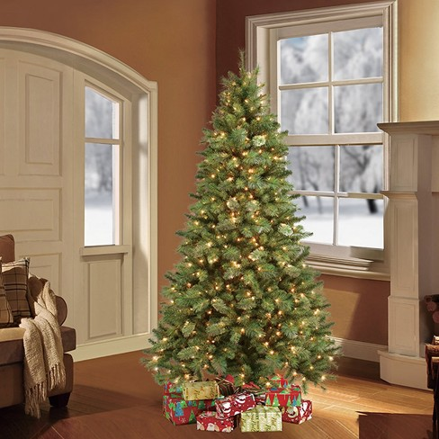 7.5ft Prelit Artificial Christmas Tree Toronto Pine : Target
