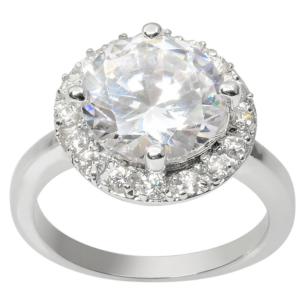 4 2/5 CT. T.W. Journee Collection Round Cut CZ Basket Set Halo Ring in Brass - Silver (8)