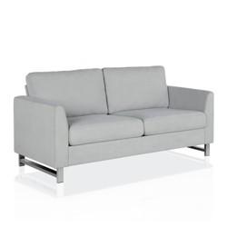 Dante Sofa with Chrome Legs Light Gray - CosmoLiving by Cosmopolitan