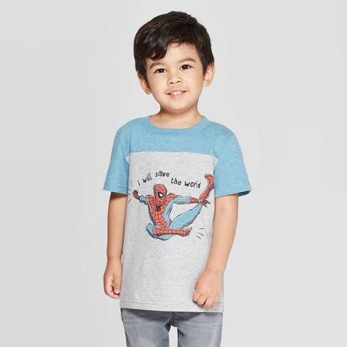 Toddler Boys' Spider-Man Save The World Short Sleeve T-Shirt - Gray - image 1 of 3