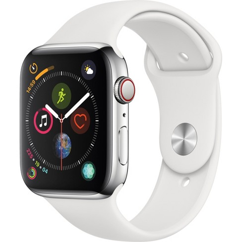 Apple Watch Series 4 GPS + Cellular, 44mm Stainless Steel Case with Sport Band - image 1 of 2