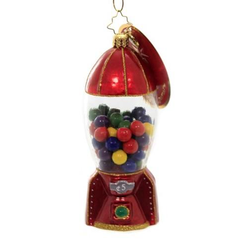 "Christopher Radko 5.25"" Gumball Blastoff Ornament Machine Rocket Candy  -  Tree Ornaments - image 1 of 3"