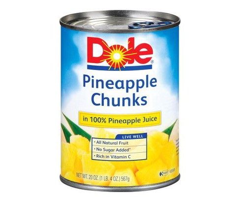 Dole Pineapple Chunks in 100% Pineapple Juice 20 oz - image 1 of 1