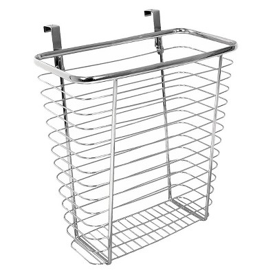 InterDesign Axis Over-the-Cabinet Steel Wastebasket - Chrome (14 )
