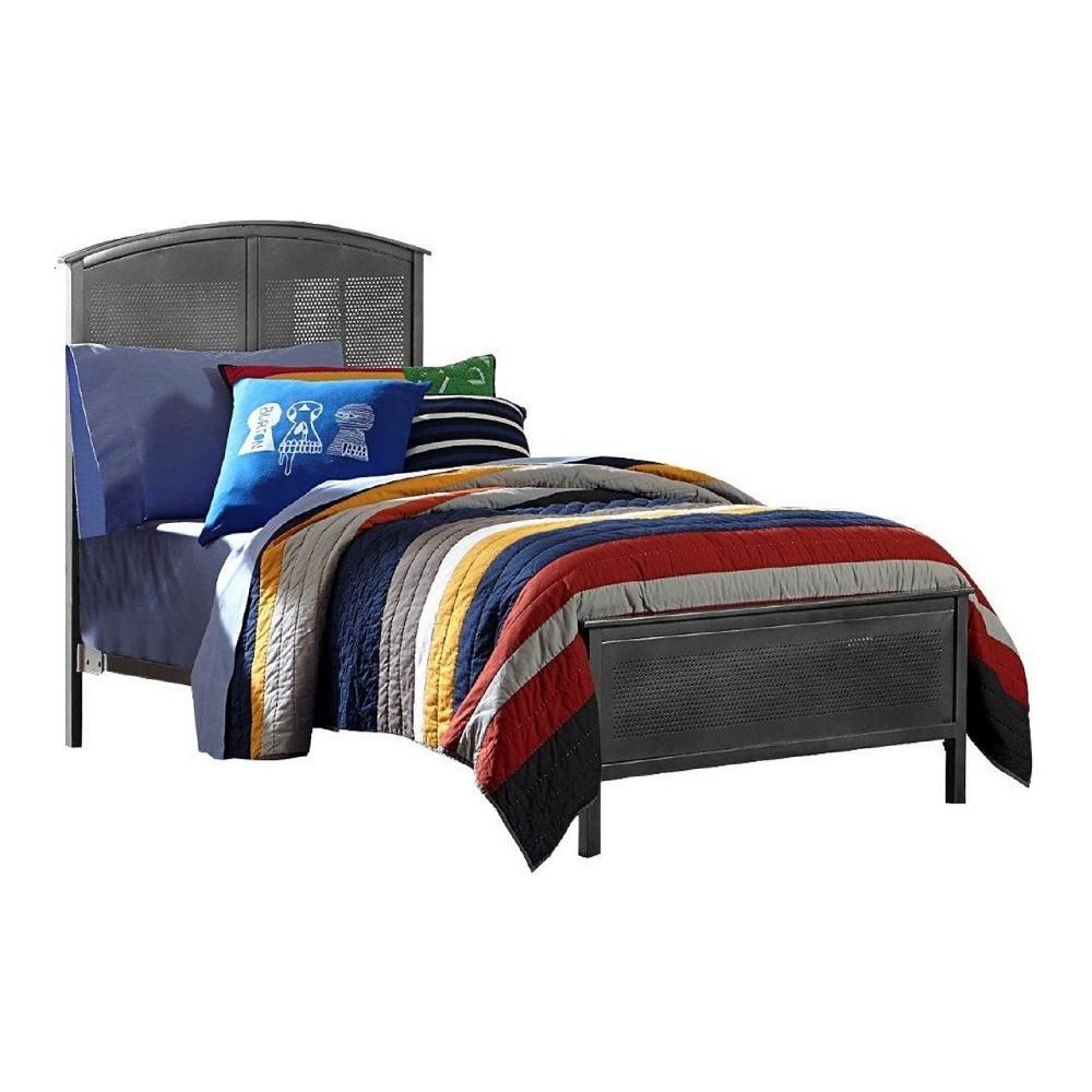 Urban Quarters Metal Panel Bed - Full - Black Steel - Hillsdale Furniture