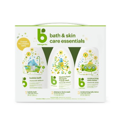 Babyganics Bath & Skin Care Essentials - 25 fl oz