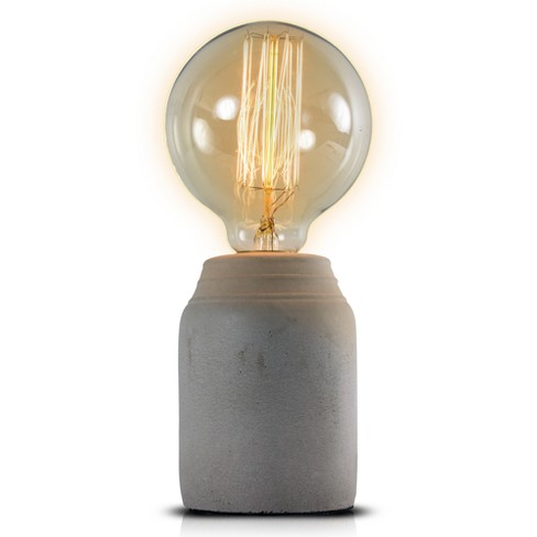 "Gray Concrete 8.8"" Table Lamp - Crystal Art - image 1 of 6"