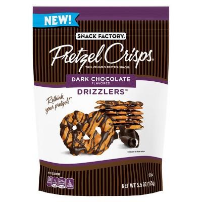 Snack Factory Dark Chocolate Drizzlers Pretzel Crisps - 5.5oz