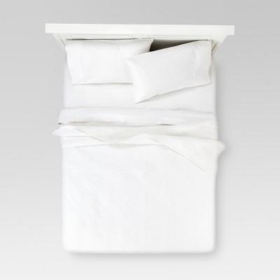 Cream Linen Blend Quilt (Full/Queen)- Threshold™