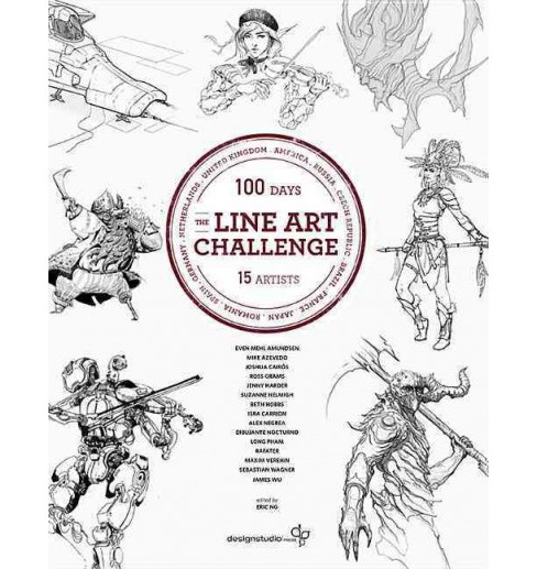 Line Art Challenge : 100 Sketches in 100 Days (Paperback) - image 1 of 1