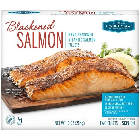 C. Wirthy & Co. Blackened Hand-Seasoned Atlantic Salmon Fillets - Frozen - 10oz - image 1 of 4