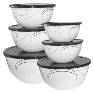 Corelle Coordinates Bowl Set Simple Lines - Black/ White (12 PC)