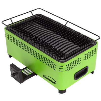 Brentwood Non-Stick Smokeless Portable BBQ in Green
