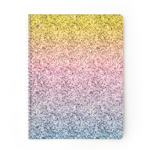 Spiral Notebook 1 Subject College Ruled Glitter Ombre - Gartner Studios - image 1 of 2