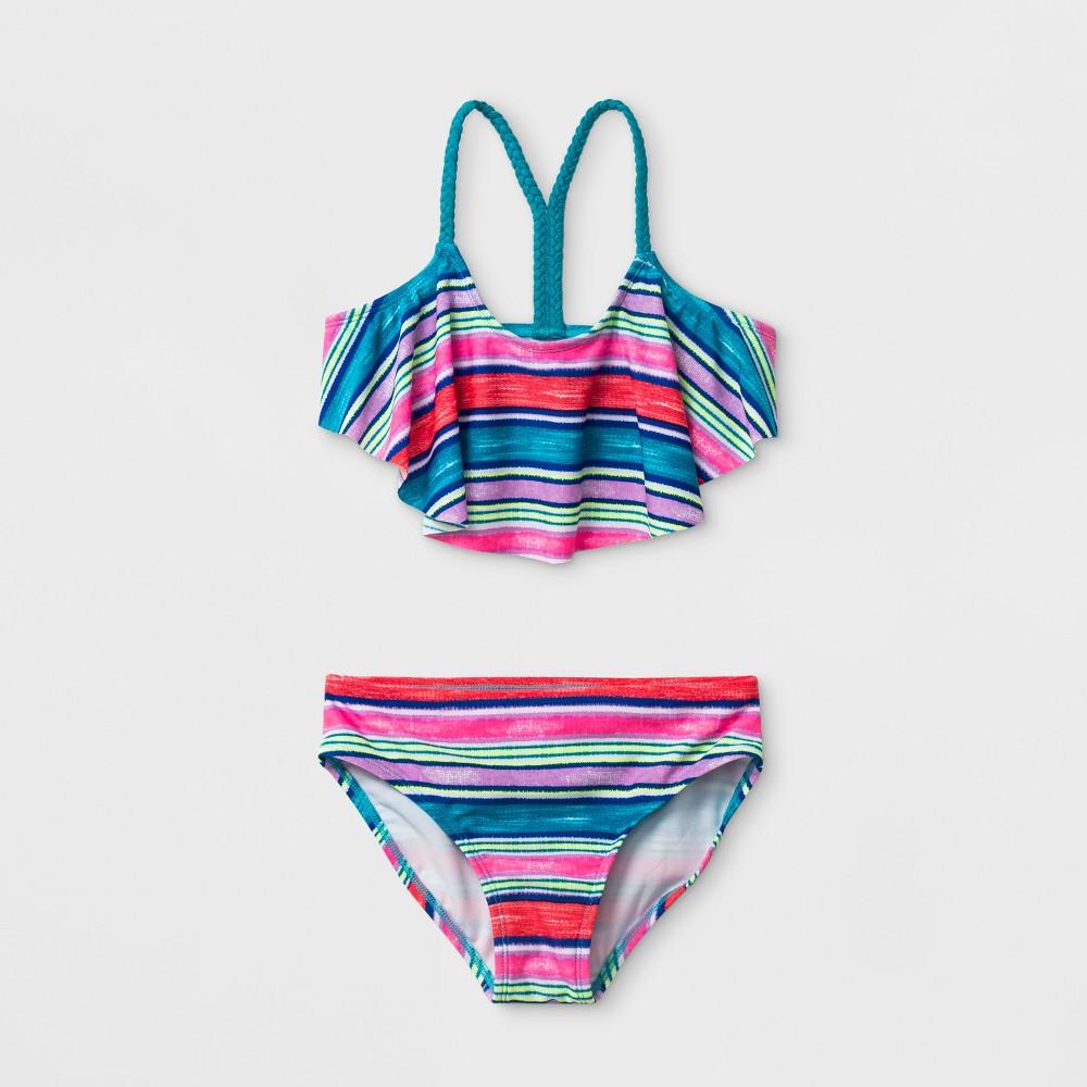 Girls' Tiny Texture Bikini Set - Cat & Jack Xxl, Blue