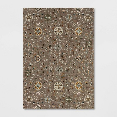 7'x10' Wenham Ornate Woven Area Rug Gray - Threshold™