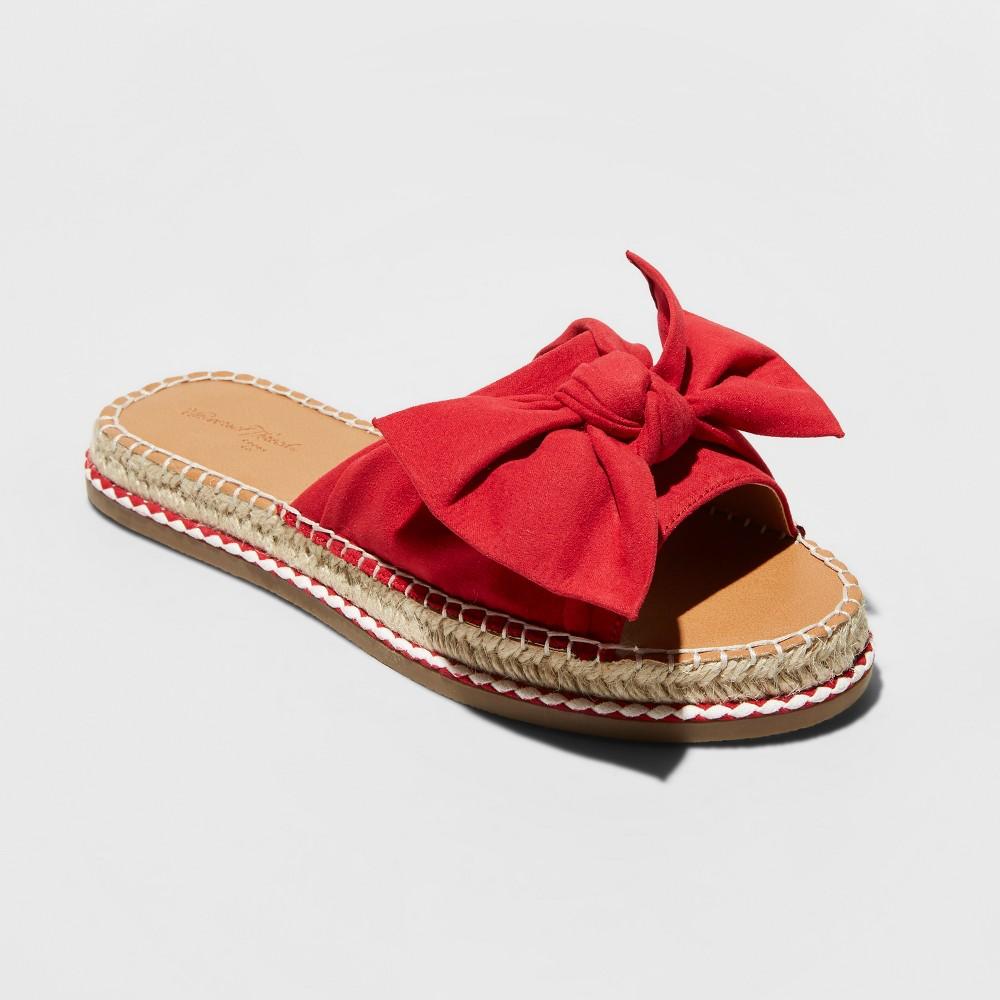 Women's Sigma Bow Espadrille Sandals - Universal Thread Red 8.5