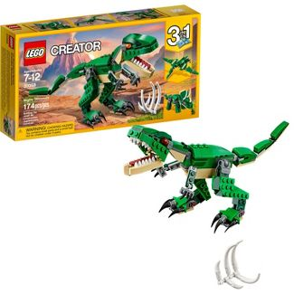 LEGO Creator Mighty Dinosaurs 31058 Build It Yourself Dinosaur Set, Pterodactyl, Triceratops, T Rex Toy