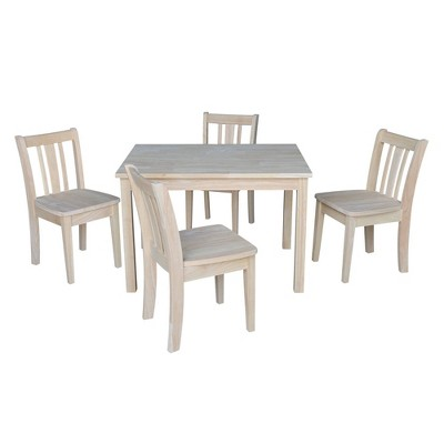 Kids' Table with 4 San Remo Juvenile Chairs Unfinished - International Concepts