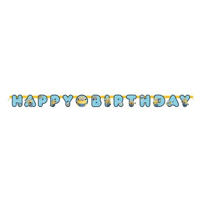 Minions 2 6.25' Large Birthday Party Banner