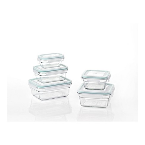 91e2bed4cdf3 Glasslock Oven and Microwave Safe Glass Food Storage Containers 10 Piece Set