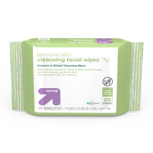 Facial Cleansing Wipes - 25ct - up & up™ - image 1 of 4
