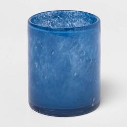 "4"" x 3.4"" Glass Votive Candle Holder Blue - Threshold™"