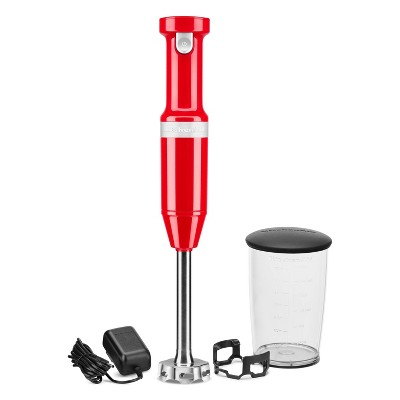 KitchenAid Variable-Speed Cordless Hand Blender - Passion Red