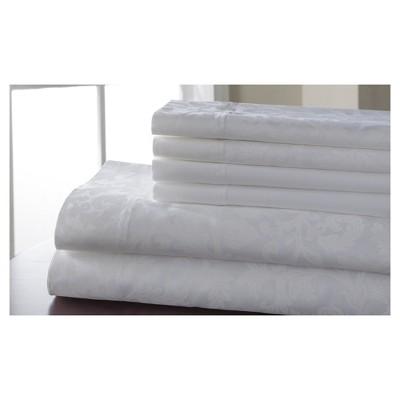Kendall Print Cotton Rich 6pc Sheet Set 600TC (King)White
