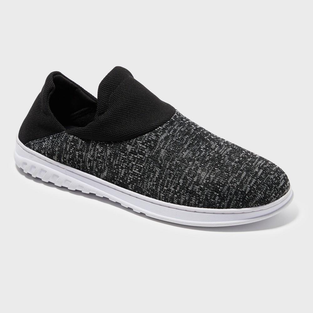Men's Dearfoams Loafer Slippers - Soft Black L