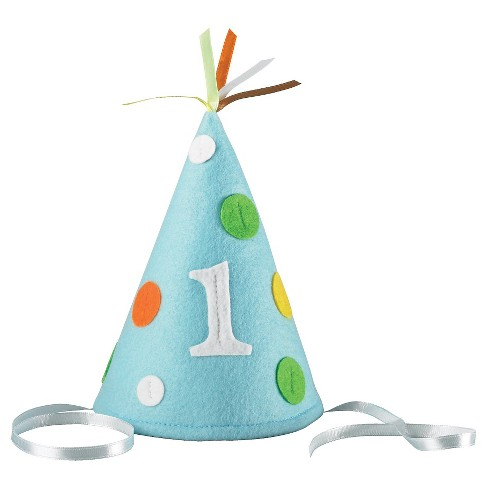 Babys First Birthday Blue Party Hat Target
