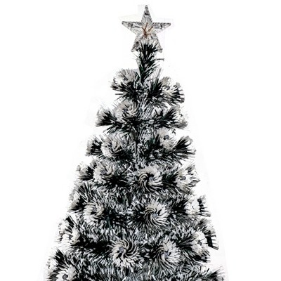 ALEKO CT6FT011 Artificial Indoor Christmas Holiday Optics Tree with Multi-Colored LED Lights - 6 Foot