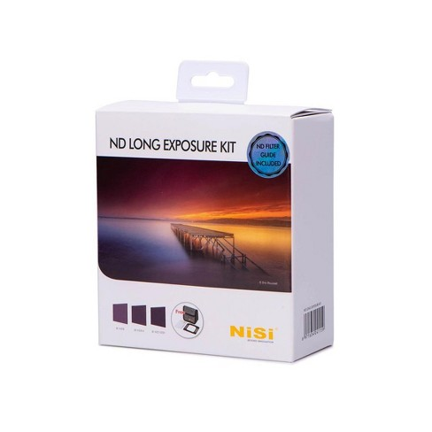 NiSi 100x100mm Neutral Density Long Exposure Filter Kit, Includes ND 0.9 (3-Stop) Filter, ND 1.8 (6-Stop) Filter and ND 3.0 (10-Stop) Filter - image 1 of 4
