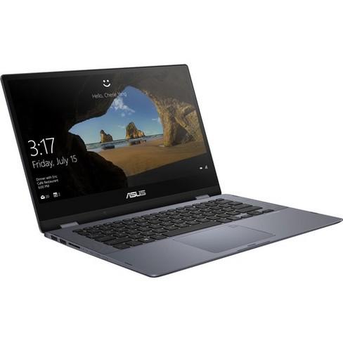 "Asus VivoBook Flip 14 14"" Touchscreen Laptop Intel Core i7 8GB RAM 256GB SSD Star Gray - 8th Gen i7-8550U - Touchscreen - Intel HD Graphics - image 1 of 4"