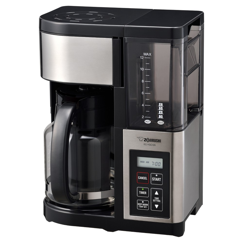 Fresh Brew Plus 12-cup Coffeemaker, Stainless Black
