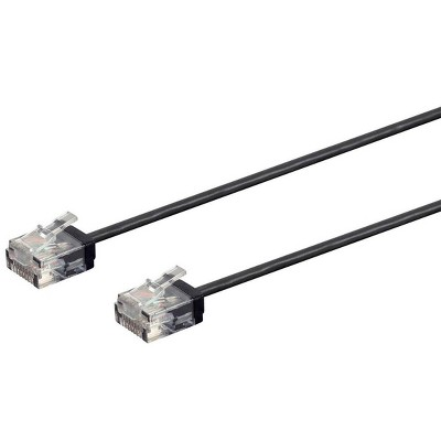 Monoprice Micro SlimRun Cat6 Ethernet Patch Cable - 50 Feet - Black, Stranded, 550MHz, UTP, Pure Bare Copper Wire, 32AWG
