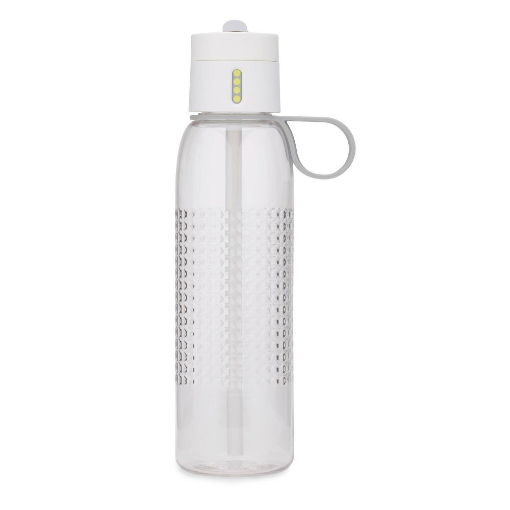 Image of Joseph Joseph 25oz Dot Active Tracking Water Bottle with Carry Loop White