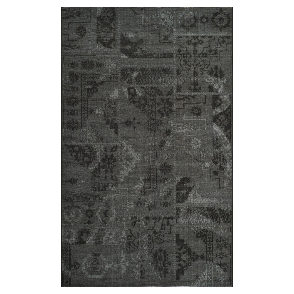 Jana Area Rug - Black / Gray (8' X 11') - Safavieh