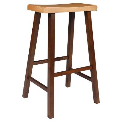 "29"" Davis Saddle Seat Stool Cinnamon/Espresso - International Concepts"