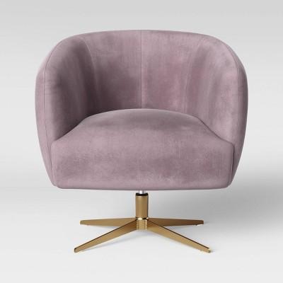 Morpho Swivel Velvet Arm Chair Blush Pink - Opalhouse™