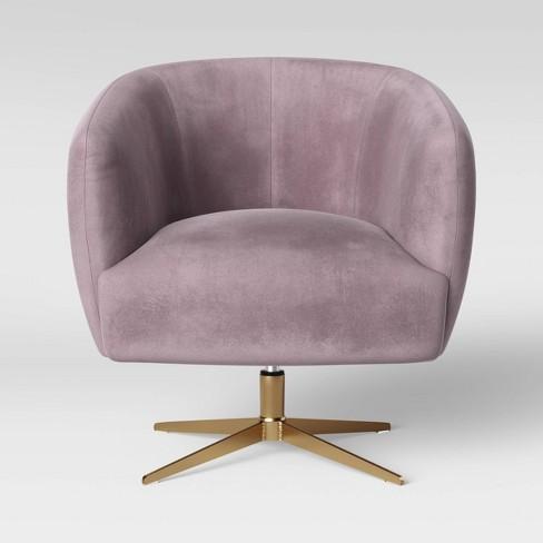 Morpho Swivel Velvet Arm Chair Blush Pink - Opalhouse™ - image 1 of 4